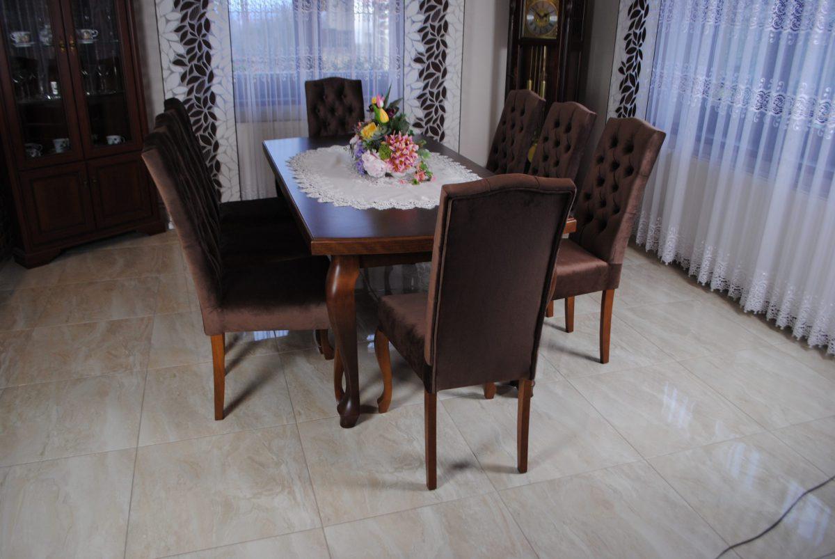 Zestaw nr 6 stół + krzesła pikowane