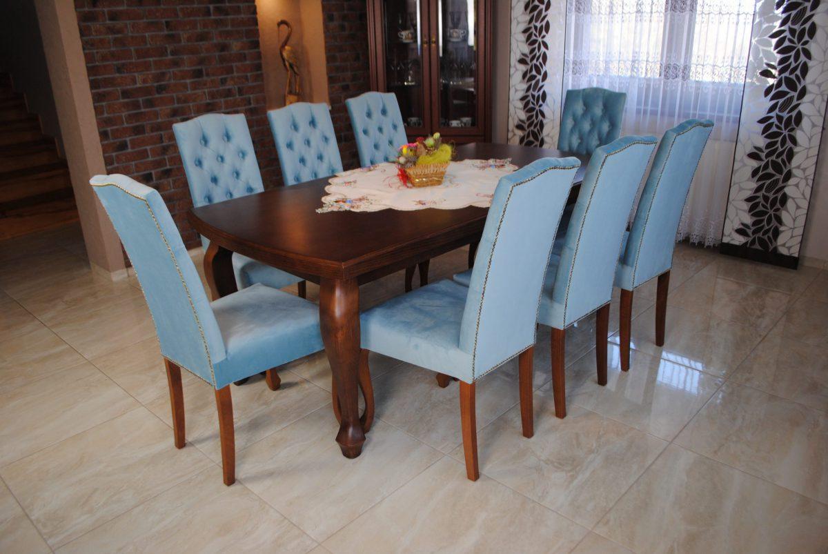 Zestaw nr 10 stół + krzesła pikowane