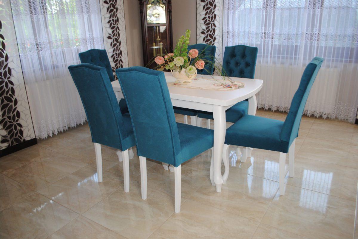 Zestaw nr 11 stół + krzesła pikowane