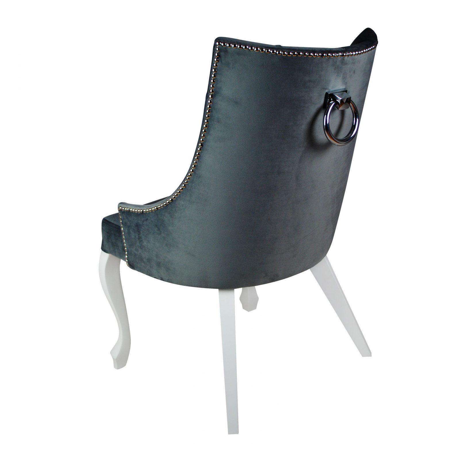 """Krzesło pikowane z kołatką """" Presto Ludwik """""""