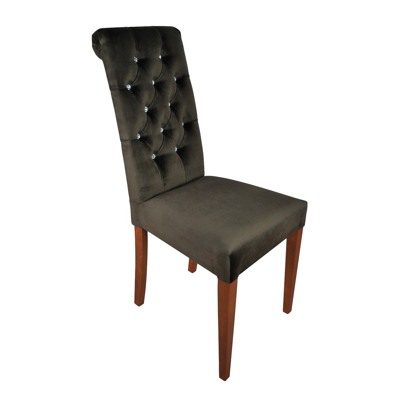 krzesła pikowane z wałkiem