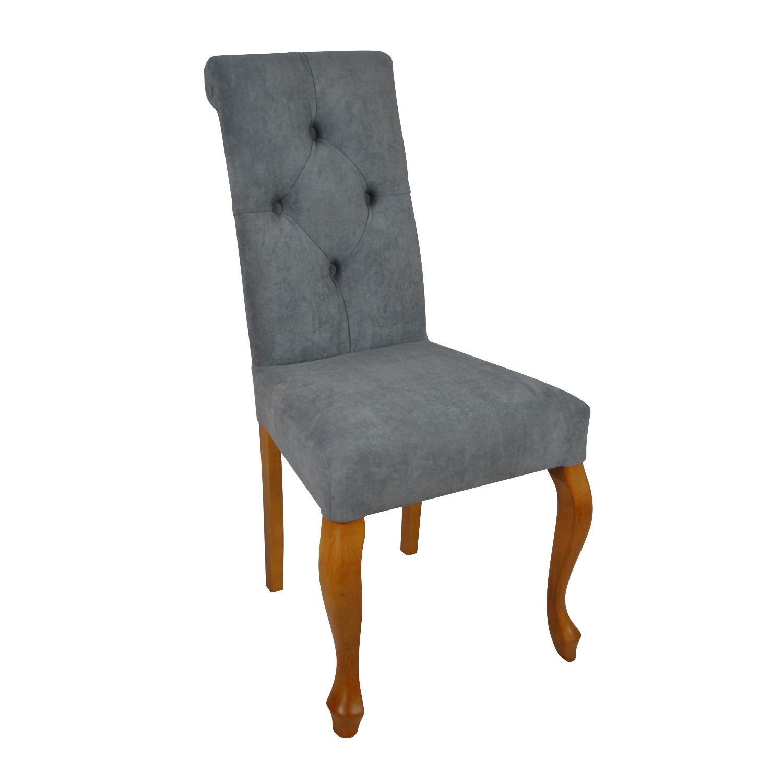 krzesło pikowane szare